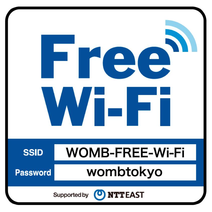 WOMB Free Wi-Fi がご利用可能に...
